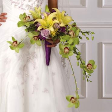Crescent Bridal Bouquet