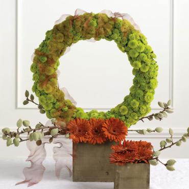 Potted Wreath Altar Arrangement